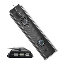 Fresco Ventilador Vertical Soporte para HUB PS4 Consola + 3 USB Puerto Excelente