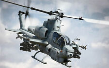 "SUPER COBRA AH-1W HELICOPTER MILITARY  24""x 38.5"" LARGE HD WALL POSTER PRINT"