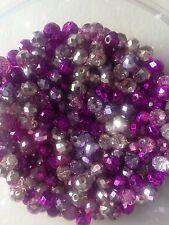 60 vetro cristallo austriaco ROUND Beads-COLORI ASSORTITI Metallizzato - 6mm