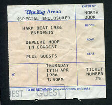 Depeche Mode 1986 concert ticket stub Wembley UK Black Celebration Stripped