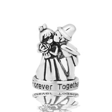 Wedding Charm Bride & Groom Love Forever Together Jewelry Pandora Charm Bracelet