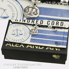 Authentic Alex and Ani Kindred Cord, Justice Scales Rafaelian Silver Bracelet