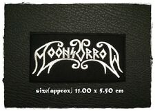 Moonsorrow Patch Sew On Iron Embroidered Rock Band Heavy Metal Music Logo Badge