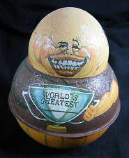 Bristol Ware Tobacco Tin Roly Poly WORLDs GREATEST Trophy Man 1983