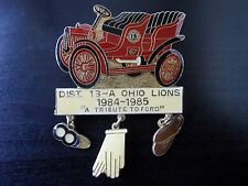 Vtg Lions Club Pin 1966 District 13-A Ohio Lions Tribute to Ford