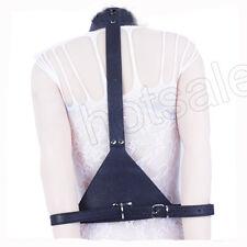 In PVC nero in pelle collo Collegamento A Braccia Corpo Cintura neckcollar braccia Polsini