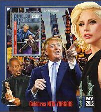 2016 ~ REPUBLIC CENTRAL AFRICA ~ DONALD TRUMP & LADY GAGA~SHEET AND SOUV. SHEET