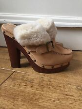 Ralph Lauren Suede And Fur Clogs Size 5