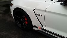 2015 2016 Mustang GT350 style Front Fender Side Scoops Unpainted ABS