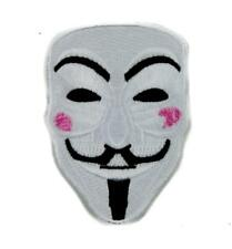 V for Vendetta Mask Patch Iron on Applique Alternative Clothing Anonymous Hacker