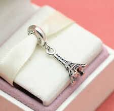 * New! Authentic Pandora Eiffel Tower 791082 Paris Love Charm w Gift Pouch