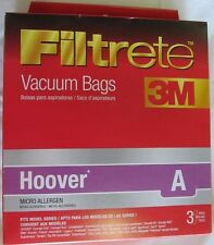 Filtrete 64700A Type A Hoover Micro Allergen Replacement Vacuum Bags - 3 Pack