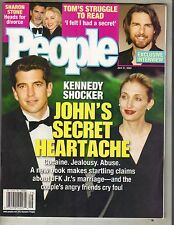 JOHN F KENNEDY JR CAROLYN BESSETTE People Mag 7/21/03 SHARON STONE TOM CRUISE