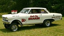 "1965  Nova AWB ""Salt City Shaker""  Drag Car 1/25th scale model car decal"