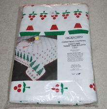"Sleater Christmas Carnival Easy Care Terry Tablecloth 54""x54"" T-8660 Table Cloth"