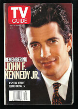 JOHN F KENNEDY JR 1999 TV GUIDE Collectible Small Format No Address Label JFK Jr