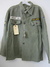 Korean War Era US Army Shirt w/ ID: Wright. D.E., w/ US 7th Army & Specialist