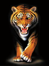 Tiger Lenticular 3D Picture Animal Poster Painting Home Decor Wall Art Decor