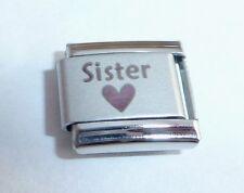 SISTER & HEART Italian Charm - I Love my SIS N187 fits Classic Starter Bracelets