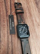 22mm Camo Leather Watch Band Apple Watch Strap Handmade