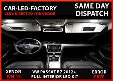 LED FULL INTERIOR LIGHTING UPGRADE KIT VW PASSAT B7 2012+ XENON WHITE