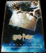 HARRY  POTTER CINEMA POSTER HARRY POTTER AND THE PHILOSOPHERS STONE 2001 MINT
