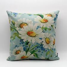 """18"""" Vintage Watercolor White Daisy Flower Spring Throw Pillow Case Cushion Cover"""
