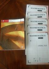 Alpha Omega Lifepac  Math Teacher Guide Grade 4 with few tests