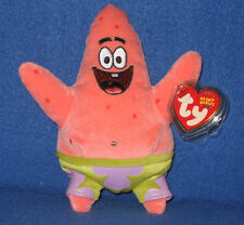 TY PATRICK STAR BEANIE BABY - MINT with TAG - SPOT ON BACK of TAG - SEE PIC