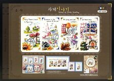 """The Four Seasons"" Counted Cross stitch pattern leaflet. Big Chart. SODA SO-G20"