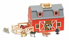 MELISSA & DOUG Fold & Go WOODEN BARN, Baby & Toddler WOODEN TOY, 3700