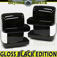 2008-2016 Ford F250-F550 GLOSS BLACK Mirror Covers for TOWING w/turn signal hole