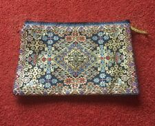 Turkish Carpet Design Zip Purse Wallet Large DVD Size Clutch Bag Free Post UK