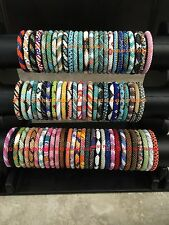 ������USA 50 SET Nepal Rolls Glass Bead Bracelet crochet handmade bangle Random