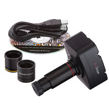 5.0MP Microscope USB Camera Windows & Mac OS X + Calibration Kit