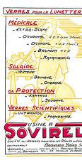 77 BAGNEAUX-SUR-LOING ETS SOVIREL MANUFACTURE VERRES LUNETTES PUBLICITE 1955