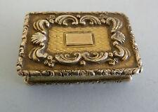 GEORGE III Solid SILVER VINAIGRETTE, 1817. GILDED Raised Decoration
