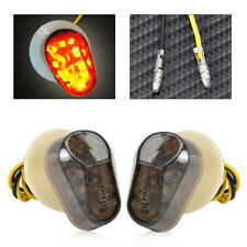 Motorcycle Smoke Black Flush Mount LED Turn Signal Light For Yamaha YZF R1 R6