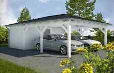 NUOVO Premium walmdachcarport con dispositivi stanza 6.00 x 9.00 preparate dalla fabbrica