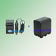 Battery + charger for NP-QM91D Sony DCR-TRV280 DCR-TRV260 CCD-TRV128 CCD-TRV138