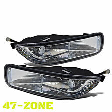 Fit 03 04 Toyota Corolla Fog Lights Lamps Kit Clear Lens Chrome Housing