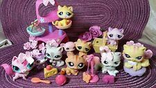 Littlest Pet Shop ♡☆ 10 verschiedene Figuren Katzen Set Sammlung ☆Kitty Cat LPS