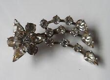 Estrella fugaz Art Deco Vintage Diamante Piedra Hollywood Glitz Broche