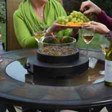 Bronze Portable Round Tabletop Party Outdoor Patio Propane Fire Bowl Firepit New