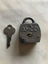 AMCO LOCK WITH NEW KEY -Great for gumball machines