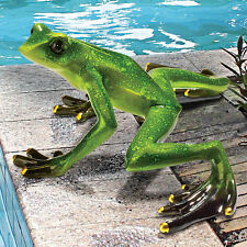 Garden Frog Toad Statue Figurine Pond Pool Decor Lawn Art Ornament Sculpture
