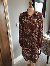 Women's Marks And Spencer's Limited Edition Paisley Knee Length Dress Size UK 12