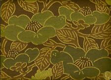 Crypton® Modern Contemporary Funky Floral Green Teal Brown Upholstery  Fabric