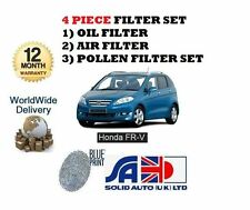 FOR HONDA FRV VTEC 1.8i 1/2007-  SERVICE KIT OIL AIR POLLEN FILTER SET