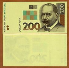 Croatia, 200 Kuna, 1993, UNC - First Issue - Printing Proof